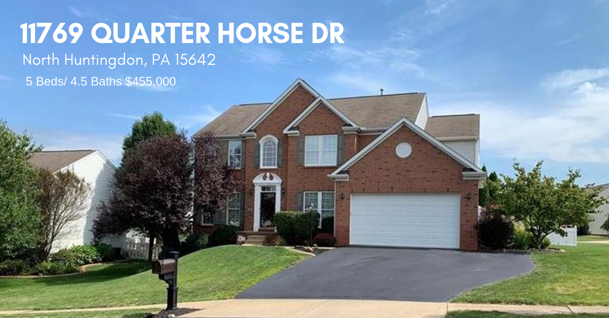 Featured Listing: 11769 Quarter Horse Dr, N Huntingdon PA 15642